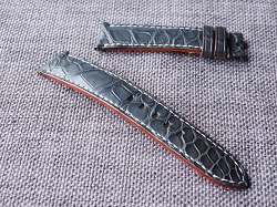 20mm Dark Gray Alligator Strap  20/18 75/115 Ready to ship